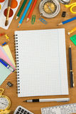 Back to school concept on wood Royalty Free Stock Photography