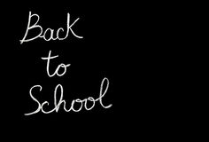 Back to school conceptual abstract background Stock Photo