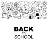 Back to school. Conceptual background picture with schooll ellements. you can try this template for print advertising or some other personal design project Stock Photo