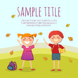 Back to school conept vector illustration Royalty Free Stock Photography