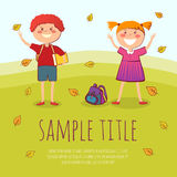 Back to school conept vector illustration Royalty Free Stock Photo