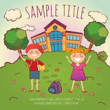Back to school conept vector illustration Royalty Free Stock Photos