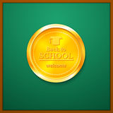 Back to school congratulations vector illustration Royalty Free Stock Photos
