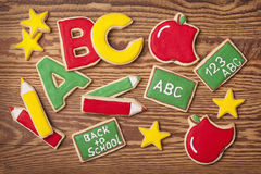 Back to school cookies Royalty Free Stock Images