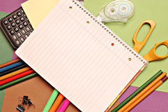 Back to School copy book Royalty Free Stock Image