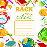 Back To School cover for children exercise book. Stock Photo