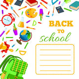 Back To School cover for children exercise book. stock illustration