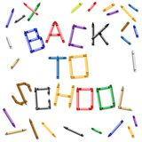 Back to school crayon sign Royalty Free Stock Photo