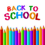 Back to school crayons Stock Image