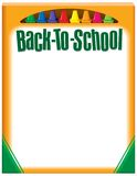 Back To School Crayons Stock Photo