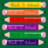 Back to school crayons Stock Images