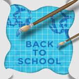 Back to school creative background.  Stock Images