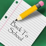 Back to school creative background. with pencil.  royalty free illustration