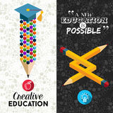 Back to school creative banner illustration Stock Images