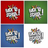 Back To School. Creative Concept With Back To School Theme vector illustration Royalty Free Stock Photos