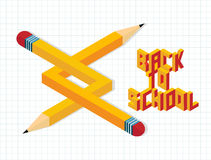 Back to school creative illustration Royalty Free Stock Photo