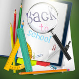 Back to school - creative vector background Royalty Free Stock Photos