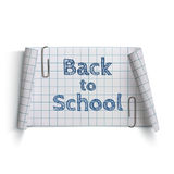 Back to School, curved paper banner Stock Images