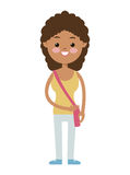 Back to school cute girl student curly hair Royalty Free Stock Photography