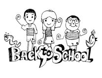 Back to school and Cute schoolchild Royalty Free Stock Photo