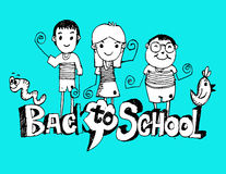 Back to school and Cute schoolchild Royalty Free Stock Images