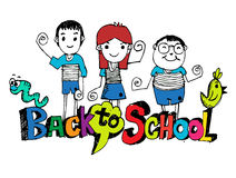Back to school and Cute schoolchild Royalty Free Stock Photos