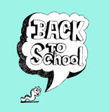 Back to school and Cute schoolchild Stock Photo