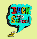 Back to school and Cute schoolchild Royalty Free Stock Image