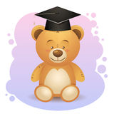 Back to school cute teddy bear toy Royalty Free Stock Photography