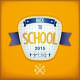 Back to school 3D badge Stock Image
