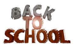 Back to school. 3d design of back to school text Royalty Free Stock Images