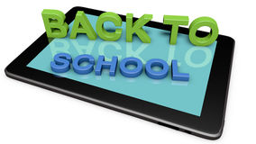 Back to school. 3d design. Back to school text Stock Photography