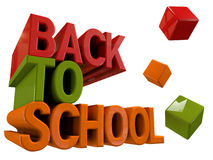 Back to school. 3d design. Back to school text Stock Images