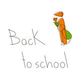 Back to school with dachshunds Royalty Free Stock Images