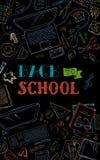 Back to School dark background. Royalty Free Stock Image