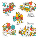 Back To School Decorative Set Royalty Free Stock Photo