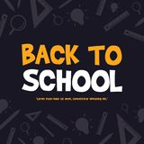 Back to school design blackboard banner. Vector illustration royalty free illustration