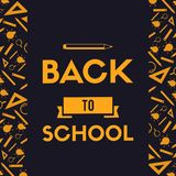 Back to school design blackboard banner. Vector illustration vector illustration