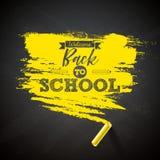 Back to school design with chalk and typography lettering on black chalkboard backgroundVector illustration for greeting. Card, banner, flyer, invitation vector illustration
