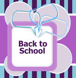 Back to school. Design elements, speech bubble for the text, education concept Stock Photography