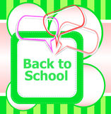 Back to school. Design elements, speech bubble for the text, education Stock Images