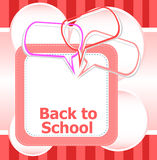 Back to school. Design elements, speech bubble for the text, education concept. Holiday concept Stock Images