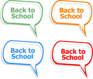 Back to school. Design elements, speech bubble for the text isolated on white Royalty Free Stock Photo