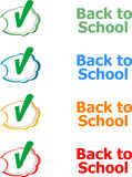 Back to school. Design elements, speech bubble for the text  on white, education. Concept Stock Image