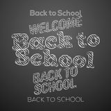 Back to school design elements Royalty Free Stock Photo