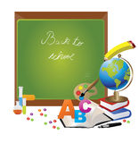 Back to School Design with globe Royalty Free Stock Photo