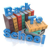 Back to school. In the design of information related to education Stock Photo