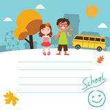 Back to school Design with kids Royalty Free Stock Photo
