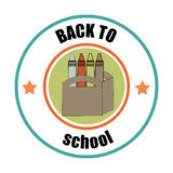 Back to school design. Over white background, vector illustration royalty free illustration