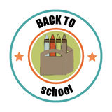 Back to school design over white background vector illustration. Back to school design over white background, vector illustration royalty free illustration
